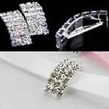 'A GRADE 10 PCS CRYSTAL RHINESTONE DIAMANTE VAULTED BUCKLE RIBBON SLIDERS CRAFT