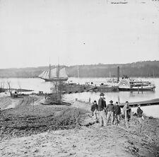 Union Medical Supply Boat Appomattox City Point, VA 1865-8x10 US Civil War Photo
