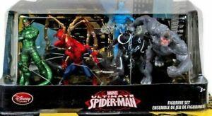 Disney Store Marvel Ultimate Spiderman Figurine Set Figures