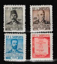 Albanian Authors Assoc. 4 mnh stamps 1960 Albania 567-70 Vasa Vreto Frasheri