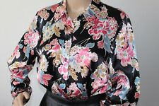 M&S Alexa Chung LADIES LOVELY SILKY FLORAL PRINT BLOUSE SHIRT SIZE 14  VGC !!!