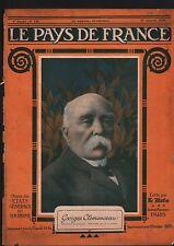 WWI Portrait Georges Clémenceau Président du Conseil France 1918 ILLUSTRATION