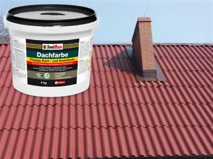 Dachfarbe elastisches Prof iSockelfarbe Dachbeschichtung Dachlack 4kg Ziegelrot