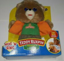 New Teddy Ruxpin Hug 'N Sing Plush with Sound - Let's Sail Away Today