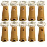 10x 2018 Wine Bottle Cork Shape Light 20LED Night Party Fairy String Light Lamp