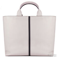 Reed Krakoff Pale Blush Pink Charcoal Grey Leather Track Tote Bag Handbag