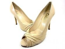 BUTTER, CLARKE PLATFORM PUMP, WOMENS, NUDE PATENT, US 9.5M, NEW WITH BOX