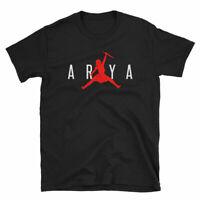 Air Arya Stark Jumping Not today Got T Shirt Cool Printed Tees USA SIZE