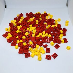 Large Playmobil Spare Parts Red Yellow Connectors Clips Bundle