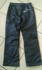Alpinestars bikers black biker leather trousers jeans size 44 waist 29'