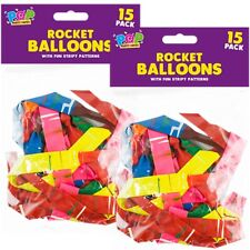 60x ROCKET BALLOONS Long Flying Wedding Party Table Scatter Gift Fun Tiger Tail