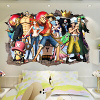 One Piece Luffy Zoro Anime Wandtattoo Wandaufkleber Wandsticker Wall sticker
