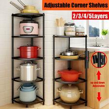 Corner Shelf Stand Display Shelves Rack Storage 2-5 Tier Bookcase Bookshelf US