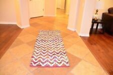 3x6 ft Multicolor Runner Rug Zigzag Handmade Soft Kitchen BedRoom Corridor Hall