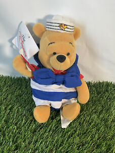 Disney Store Plush Winnie The Pooh With Tags Sailor Nutical Pooh Soft Toy