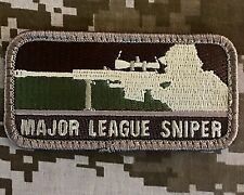 MAJOR LEAGUE SNIPER MILSPEC US ARMY USA MILITARY ARID MORALE HOOK PATCH