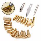 ?? 22Pcs Wood Burning Tool Tips Set Soldering Pyrography Art Pen Craft Brass Kit