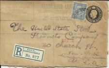British Army Post Office CONSTANTINOPLE Registered Env uprated SG#372, 4/OC/19