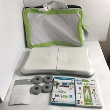 Wii Fit Plus & Wii Fit U Games w/ Balance Board - Cleaned,Tested & Working W/Bag