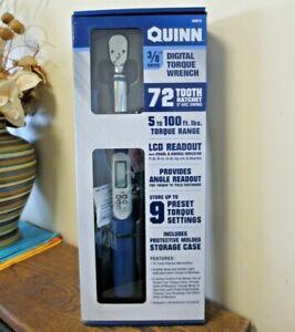 "New! Quinn 3/8"" Drive Digital Torque Wrench 72 Tooth Ratchet 5* Arc 64915 (9155)"