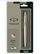 Parker Jotter GOLD GT Ball Point Pen Blue Ink Gold Trim Stainless Steel Body NEW