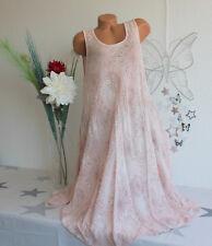 Italy Damen Sommerkleid Beachkleid Kleid Mandala Kreise Rosa Gr. 44-48