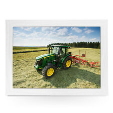 Tractor- Personalised Wood Frame Cushion Padded Lap Tray  L0325
