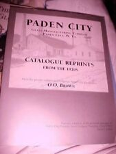 PADEN CITY GLASS MFG. CATALOG REPRINTS FROM THE 20'S