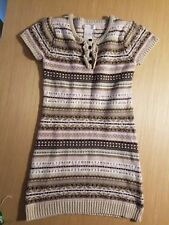 Jillian's Closet Pink and Beige Sweater Dress -  Size 7-8