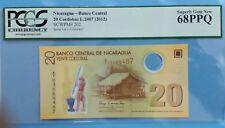 2012 Nicaragua 20 Cordobas PCGS68 PPQ <P-202> Superb GEM UNC 1st Prefix