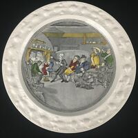 VTG Luncheon Plate Adams China Doctor Syntax Reading His Tour Ironstone England