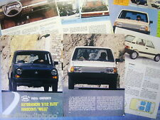 QUATTROR980-PROVA SU STRADA/ROAD TEST-1980- A112 ELITE vs INNOCENTI 1000-8 fogli