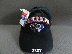NWT Super Bowl XXXV Baltimore Ravens NY Giant Black Hat Team NFL 2001 Limited Ed