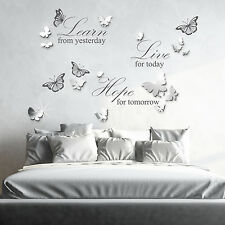 Butterflies Home Quote Live Wall Sticker Decal Mural Decoration, 110cm x 64cm