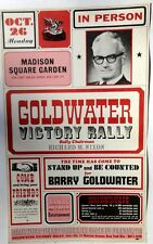 Barry GOLDWATER Victory Rally Poster Madison Square Garden NYC Chairman NIXON