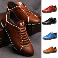 Men's Running Shoes Outdoor Casual Leather Shoes Breathable Sports Athletic USA