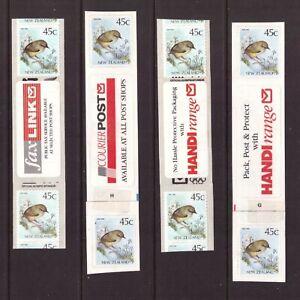 New Zealand 1992 Olympic logo/Birds 4 strips mint stamps
