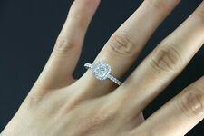 GIA David Yurman Platinum Cushion Round Diamond Halo Rope Engagement Ring