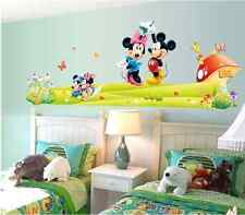 Wall Sticker Decal Minnie and Mickey Mouse DIY Kids Bedroom Home Decor Mural New