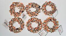 6 Napkin Ring Holders Mixed Shells Beach Ocean Nautical Coast Leila's Linens