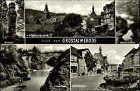 Großalmerode Hessen Kaufunger Wald ~1950/60 Mehrbild AK Roter See Bilstein Markt