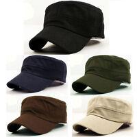 Classic Plain Vintage Army Hat Cadet Military Patrol Cap Adjustable Colorful