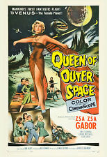 1950's Sci-Fi  * Queen of Outer Space * Zsa Zsa Gabor  Movie Poster 1958