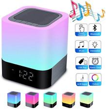 Night Light Bluetooth Speaker,HoaBoly Wireless Speakers Alarm Clock,Touch Music