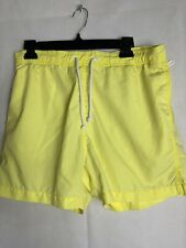 5844d77940 Mens H & M Yellow Swim Trunks Small elastic pull on Drawstring EUC 4495