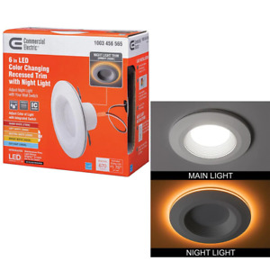 Recessed Lighting Baffle Trim 6 in. 670 Lumens Color Changing Dimmable Retrofit