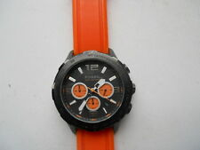 Fossil chronograph men's Orange rubber band.Analog,quartz & batte watch.Ch-2540.