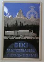 Dixi Fahrzeugfabrik Eisenach IN Eisenach 3D Targa di Latta (BS404)