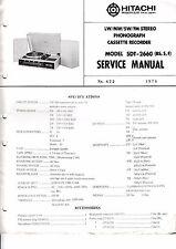 MANUEL DE REPARATION POUR Hitachi sdt-2660