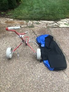 Golf pull cart and soft travel bag